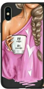MOBILE PHONE CASE/COVER APPLE IPHONE 11 PINK TOP COFFEE CUP HEARTS DRAWING TPU