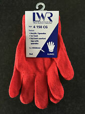 BNWT Boys/Girls LWR Brand Smart Red Knit Primary School Uniform Warm Gloves