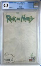 Rick and Morty 1 Blank Variant CGC 9.8