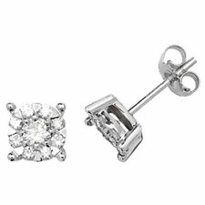 Orecchini con diamanti tondi h , Purezza pietra I1