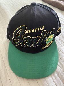 Seattle SuperSonics New Era NBA Adjustable One Size Embroidered Logo Green Black
