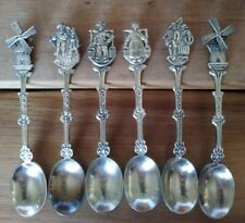 Holland Souvenir Spoons Silverplate Lot of 6