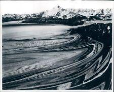 1970 Malaspina Glacier Saint Elias Mountains Alaska Press Photo