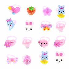 20Pcs Mixed Lots Wholesale Cute Cartoon Children/Kids Resin Lucite Rings Gift