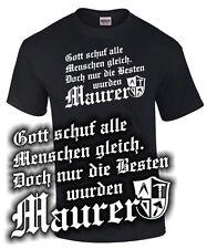T-Shirt NUR DIE BESTEN WURDEN MAURER Zunft Wappen Zeichen Arbeitskleidung lustig