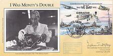 Gibraltar VE Day Sheet I was Monty's Double Signed J Tilston 601 Sqn Pilot