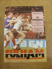 15/09/1981 Fulham v Bournemouth [Football League Cup] . Item appears to be in go