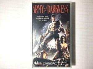 Army Of Darkness Cult VHS Video. Evil Dead. Bruce Campbell Sam Raimi Ivan Raimi