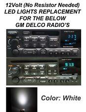 DELCO GM GMC CHEVY DISPLAY LIGHT LED BULBS FOR CD, CASS RADIO'S 10 qty 12V White
