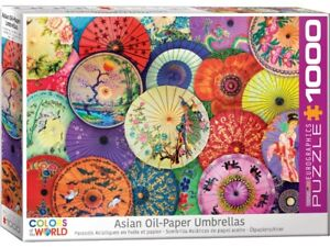 Eurographics 1000 Piece Jigsaw Puzzle - Asian Oil Paper Umbrellas
