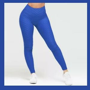 Women Ruched Push Up Leggings Yoga Pants Anti Cellulite Sport Scrunch Trousers M