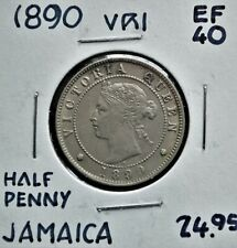 1890 Jamaica Half Penny