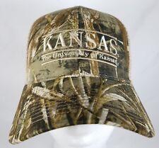Kansas University Jayhawks Snapback Hat The Game Realtree Camo Bar Trucker KU