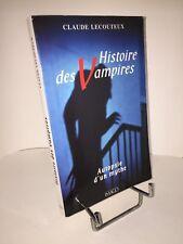 Histoire des vampires. Autopsie d'un mythe par Claude Lecouteux