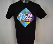 Neff Mens Palm Trees Black Shirt New L