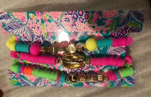 NWT Lilly Pulitzer GWP Beaded Bracelet Set of 3 Multi