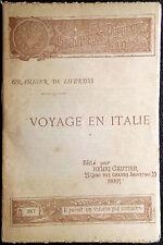 Balthasar Grangier de Liverdis, Voyage en Italie, Ed. Henri Gautier, 1894