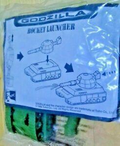 Godzilla Rocket Launcher 1998 Green Water Tank Toy Toho Taco Bell KFC Australia