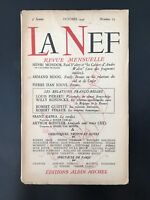 The Nave Magazine monthly number 23 Albin Michel Octobre 1946