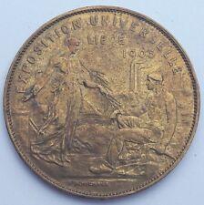 Belgique Médaille Exposition Universelle de Liège 1905 par A.Michaux