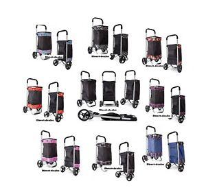 Light Weight Folding 2 Wheel Shopping Trolley luggage Weekend Cabin Bag Case