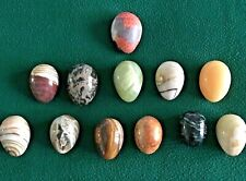 Beautiful Vintage Egg Collection Alabaster, Marble, Natural Stone, Polished