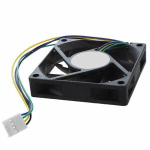 12V 70mm x 15mm 4 Pin CPU Cooling Fan PC Cooler Heat Sink 7015 Sleeve Brng BK SB