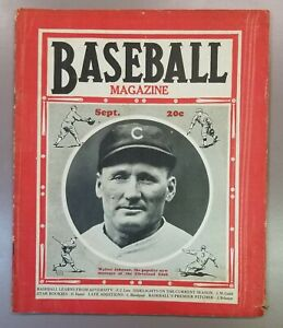 1933 September Baseball Magazine Walter Johnson