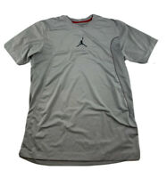 Nike Air Jordan Training Gray Athletic Shirt Mens Size M Basketball Perforated