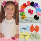 Wholesale 10pcs Hair Bows Boutique Girls Baby Grosgrain Bowknot + Alligator Clip