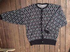 ORIGINAL VINTAGE 80s ELECTRO new wave jumper top cardigan dress M L 12 14