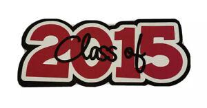 Class of 2015 Graduation Red Scrapbook Title
