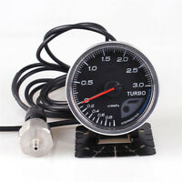 2.5 Inch Turbo Boost Auto Gauge Electronic Sensor 7 Colors Adjustable Universal