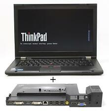 """Lenovo t430s 14,1"""" HD + 8 GB RAM i5-3320m QWERTZ retroiluminada con estación de acoplamiento 4338"""