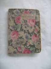 "Livre miniature ancien : ""Chatterton"", drame d'Alfred de Vigny - Lib. Payot"