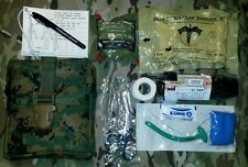 Brand New MARPAT Digital Woodland IFAK w OLAES & NAR Trauma Kit / CAT Tourniquet