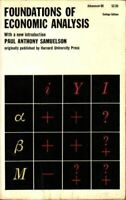 Foundations of Economic Analysis by Samuelson, Paul Anthony Book The Fast Free