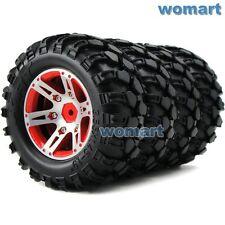 4pc RC 1.9 Rock Crawler Tires 115mm & Metal 1.9 Beadlock Rims For RC Crawler