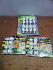 GE 13-WATT ENERGY SMART FLUORESCENT LIGHT BULBS 8 PACK 60 WATT REPLACEMENT 16 🌞