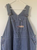 Big Mac Workwear Vintage Mens USA Made Railroad Stripe Denim Overalls Size 50 EC