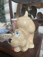 Vintage McCoy Pottery Brown Hound Dog Cookie Jar  USA