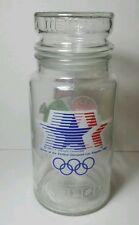 Vintage 1984 XXIII Los Angeles olympics m & m glass jar with lid
