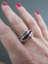Vintage Art Deco Silver Ruby Ring