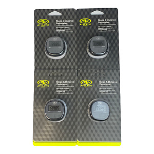 Athletic Works Step & Distance Pedometer Activity Tracker ATH-RN1000B 4 Pack
