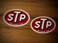 2x STP Aufkleber Öl Vintage Retro Vintage Old School Oldtimer Ratte Rost  #287