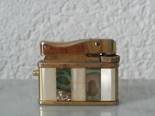 altes kleines Feuerzeug Perlmutt Muscheleinlegearbeit Elysee Baby