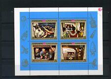 YEMEN KINGDOM 1969 Mi#801-804 SPACE APOLLO 11 SHEET OF 4 STAMPS MNH