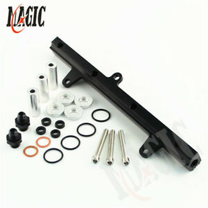 For 240SX 89-94 S13 SR20DET SR20 Engine Aluminium Top Feed Fuel Rail Kit Black