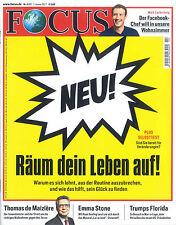 FOCUS Magazin - Heft 2/2017 vom 7.1.2017: Räum dein Leben auf! ++ wie neu ++