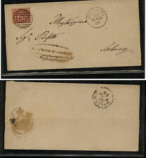 Italy  nice number cancel  stamped  cover  , local use  1884          KEL0409